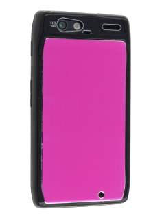 Motorola RAZR Brushed Aluminium Case plus Screen Protector - Hot Pink