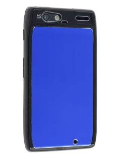 Motorola RAZR Brushed Aluminium Case - Ocean Blue Hard Case