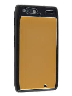 Motorola RAZR Brushed Aluminium Case - Gold Hard Case