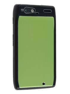 Motorola RAZR Brushed Aluminium Case - Lime Green Hard Case