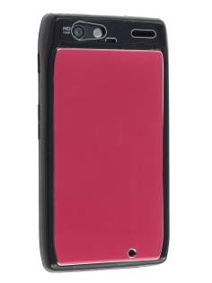 Motorola RAZR Brushed Aluminium Case - Burgundy Red Hard Case