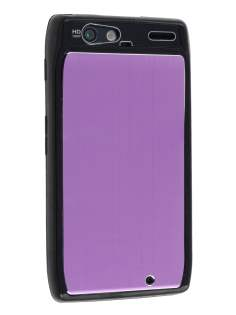 Motorola RAZR Brushed Aluminium Case - Lavender Purple Hard Case