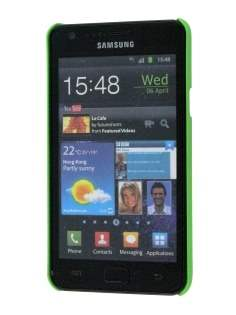 Samsung I9100 Galaxy S2 Rubberised Colour Case plus Screen Protector - Lime Green