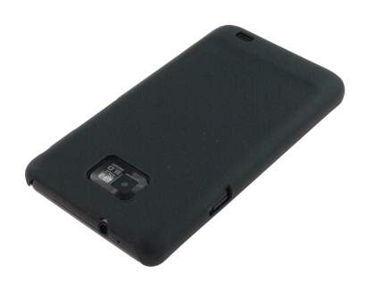 Samsung I9100 Galaxy S2 Rubberised Colour Case plus Screen Protector - Black