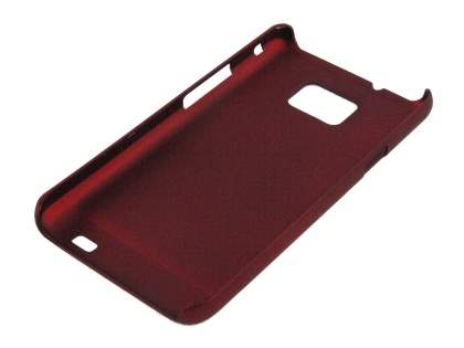 Rubberised Colour Case for Samsung I9100 Galaxy S2 - Red