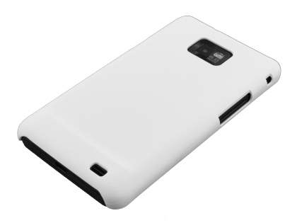 Rubberised Colour Case for Samsung I9100 Galaxy S2 - Pearl White