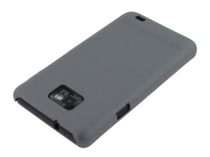 Samsung I9100 Galaxy S2 Rubberised Colour Case plus Screen Protector - Navy Grey