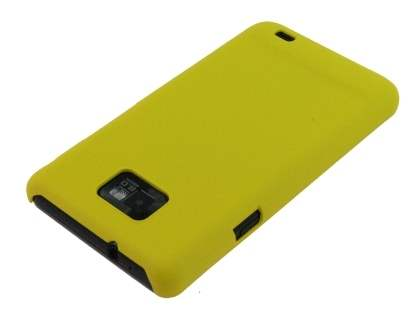 Samsung I9100 Galaxy S2 Rubberised Colour Case plus Screen Protector - Yellow