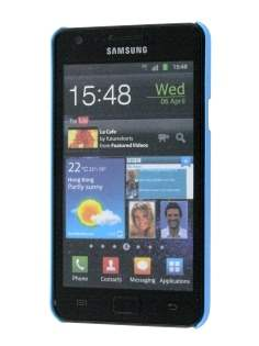 Samsung I9100 Galaxy S2 Rubberised Colour Case plus Screen Protector - Sky Blue