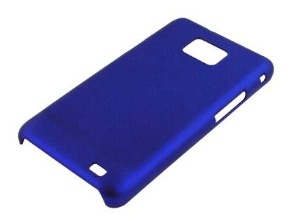 Rubberised Colour Case for Samsung I9100 Galaxy S2 - Navy Blue