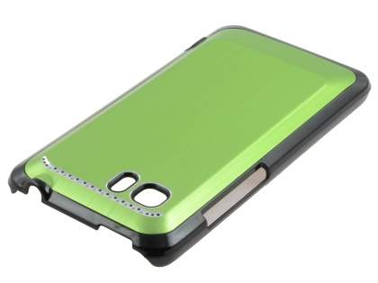 HTC Velocity 4G Brushed Aluminium Case plus Screen Protector - Lime Green