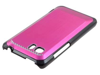 HTC Velocity 4G Brushed Aluminium Case plus Screen Protector - Hot Pink