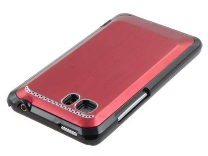 HTC Velocity 4G Brushed Aluminium Case plus Screen Protector - Burgundy Red