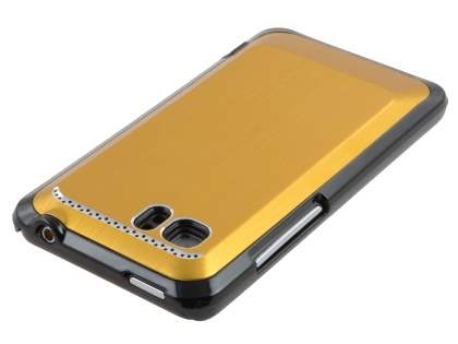 HTC Velocity 4G Brushed Aluminium Case plus Screen Protector - Gold