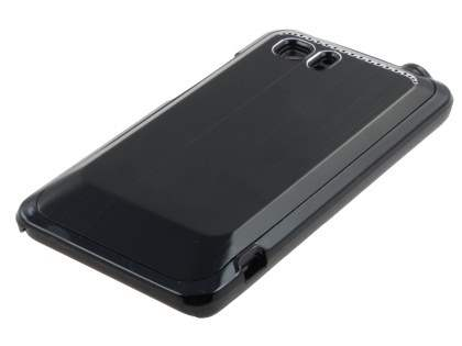 HTC Velocity 4G Brushed Aluminium Case plus Screen Protector - Night Black