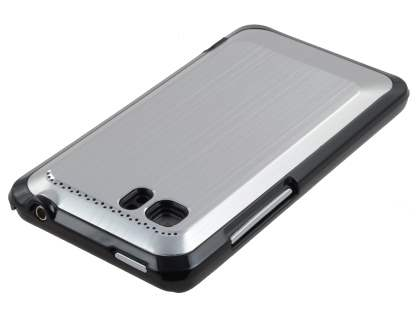 HTC Velocity 4G Brushed Aluminium Case plus Screen Protector - Silver
