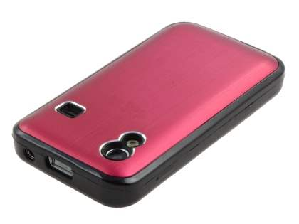 Samsung S5830 Galaxy Ace Brushed Aluminium Case - Burgundy Red