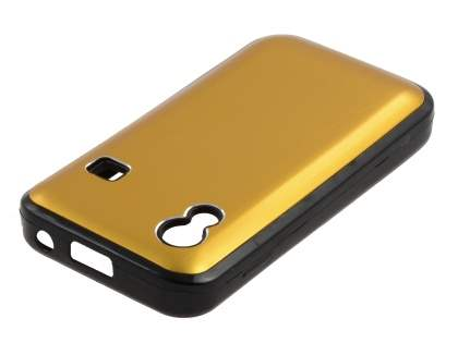 Samsung S5830 Galaxy Ace Brushed Aluminium Case plus Screen Protector - Gold
