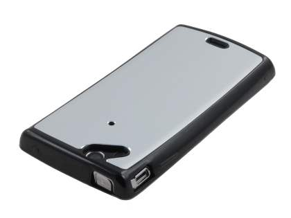 Sony Ericsson Xperia Arc/Arc S Brushed Aluminium Case plus Screen Protector - Silver