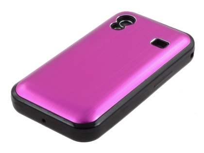 Samsung S5830 Galaxy Ace Brushed Aluminium Case plus Screen Protector - Hot Pink