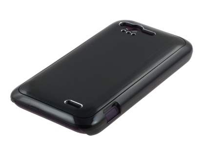 HTC Rhyme Brushed Aluminium Case plus Screen Protector - Night Black