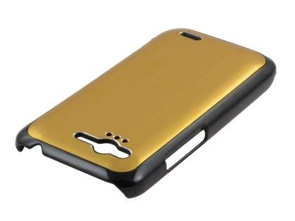 HTC Rhyme Brushed Aluminium Case plus Screen Protector - Gold