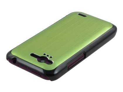HTC Rhyme Brushed Aluminium Case plus Screen Protector - Lime Green