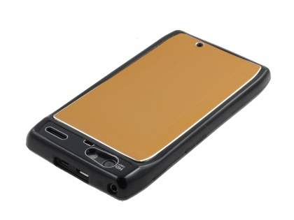 Motorola RAZR Brushed Aluminium Case plus Screen Protector - Gold