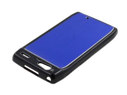 Motorola RAZR Brushed Aluminium Case plus Screen Protector - Ocean Blue