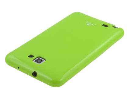 Mercury Glossy Gel Case for Samsung I9220 Galaxy Note - Lime Green