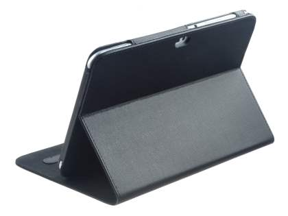 Samsung Galaxy Tab 8.9 4G Synthetic Leather Flip Case with Dual-Angle Tilt Stand - Black Leather Flip Case