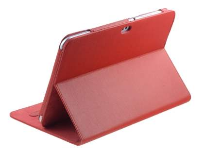 Samsung Galaxy Tab 8.9 4G Synthetic Leather Flip Case with Dual-Angle Tilt Stand - Red Leather Flip Case