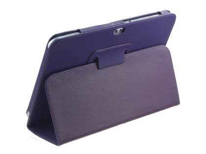 Synthetic Leather Flip Case with Fold-Back Stand for Samsung Galaxy Tab 8.9 4G - Purple Leather Flip Case