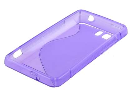 HTC Velocity 4G Wave Case - Frosted Purple/Purple