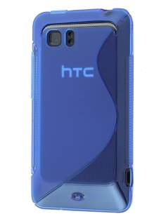 HTC Velocity 4G Wave Case - Frosted Blue/Blue