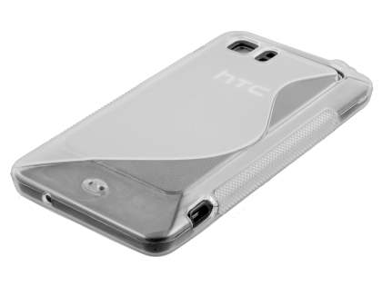 HTC Velocity 4G Wave Case - Frosted Clear/Clear