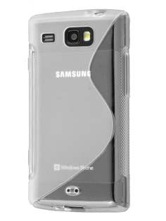 Samsung Omnia W I8350 Wave Case - Frosted Clear/Clear Soft Cover