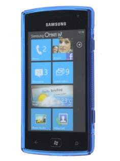 Samsung Omnia W I8350 Wave Case - Frosted Blue/Blue