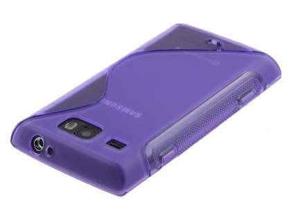 Samsung Omnia W I8350 Wave Case - Frosted Purple/Purple