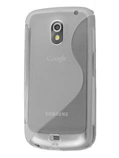 Samsung Galaxy Nexus I9250 Wave Case - Frosted Clear/Clear