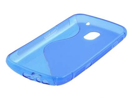 Samsung Galaxy Nexus I9250 Wave Case - Frosted Blue/Blue