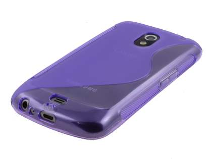 Samsung Galaxy Nexus I9250 Wave Case - Frosted Purple/Purple