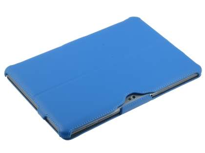 Premium Samsung Galaxy Tab 10.1 Slim Synthetic Leather Flip Case with Multi-Angle Tilt Stand - Sky Blue