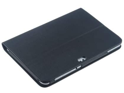 Samsung Galaxy Tab 8.9 4G Synthetic Leather Flip Case with Dual-Angle Tilt Stand - Black