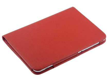 Samsung Galaxy Tab 8.9 4G Synthetic Leather Flip Case with Dual-Angle Tilt Stand - Red