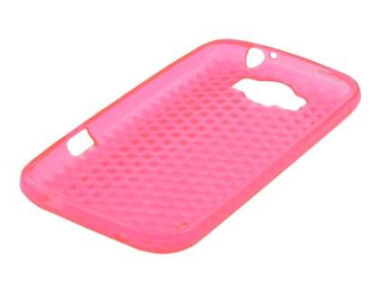 HTC Sensation XL TPU Gel Case - Diamond Pink