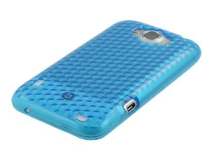 HTC Sensation XL TPU Gel Case - Diamond Sky Blue