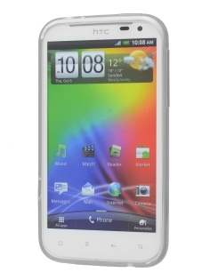 POLAISHI HTC Sensation XL Frosted TPU Case plus Screen Protector - Clear
