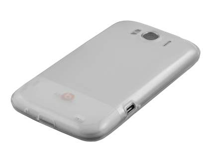 KingOK HTC Sensation XL Frosted TPU Case plus Screen Protector - Frosted Clear