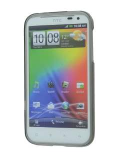 REMAX HTC Sensation XL Frosted TPU Case plus Screen Protector - Frosted Grey